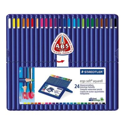 스테들러 고급 삼각 수채 색연필 156 24색 세트