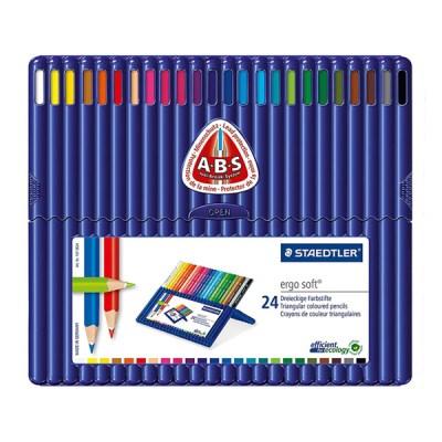 스테들러 고급 삼각 색연필 157 24색 세트