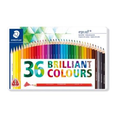 스테들러 에고소프트 색연필 36색 틴 케이스 157 M36