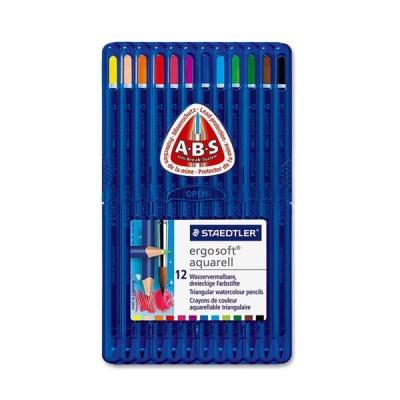 스테들러 고급 삼각 수채 색연필 156 12색 세트