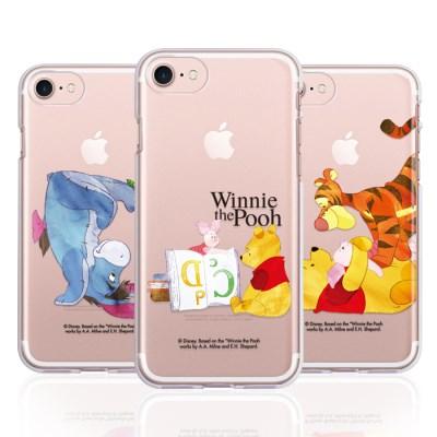 아이폰11 곰돌이푸 워터컬러 클리어젤리케이스