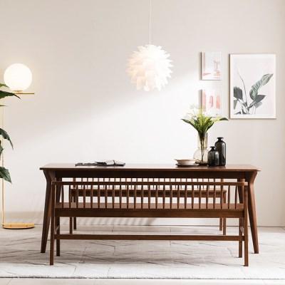 [채우리] 나스르 원목 3인 식탁 벤치 의자
