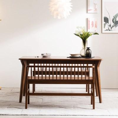 [채우리] 나스르 원목 2인 식탁 벤치 의자