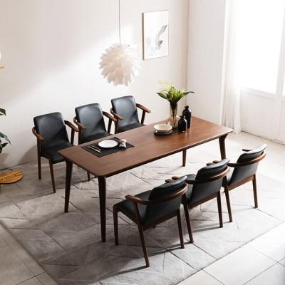 [채우리] 나스르 원목 6인 식탁 세트(의자)