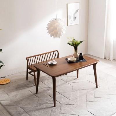 [채우리] 나스르 원목 4인 식탁 테이블 + 벤치1