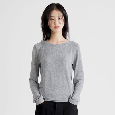 feminine slim tee (gray)_(1388905)
