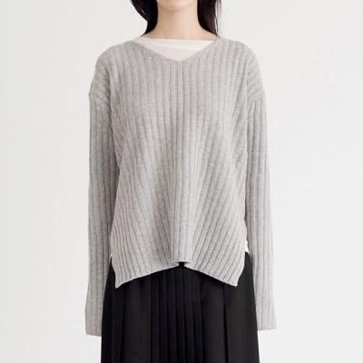slim v neck knit (4colors)_(1388904)