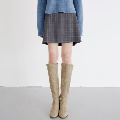 wool plaid mini skirts (2colors)_(1388897)