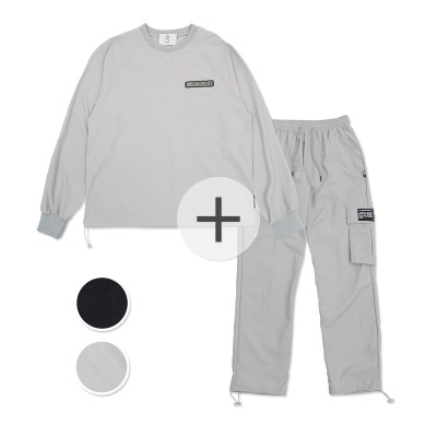 [SET] (생활방수가능)UNISEX Wearable Stopper Top&Pants set