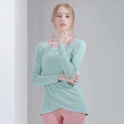 프론트 랩 커버 티셔츠 DFW-TL5031 민트