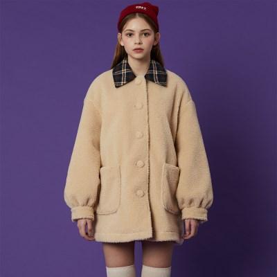 Fleece Coat_Ivory