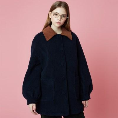 Fleece Coat_Navy