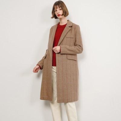 Harriet Stripe Wool Coat_Beige_(38529)
