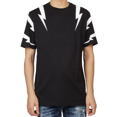 19FW 닐바렛 타이거 볼트 프린팅 티셔츠 (블랙) BJT553S M508S 524