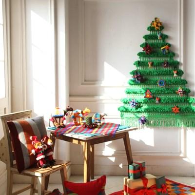 크리스마스 트리배너 그린(L)+오너먼트세트
