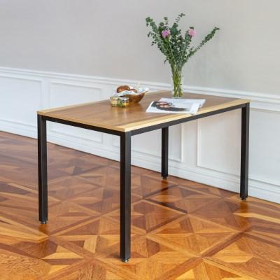 [리코베로] 카디스 다용도 철제 식탁 테이블 1200 5컬러 우드슬랩