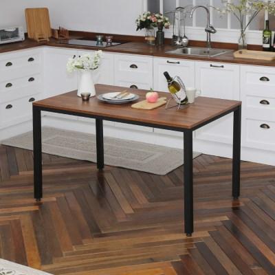 [리코베로] 카디스 다용도 철제 식탁 테이블 1200 5컬러 멀바우/마블