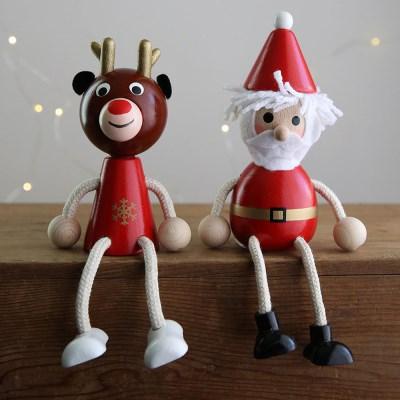 크리스마스 장식 소품 순록, 산타 나무인형 - 막스(MARKS)