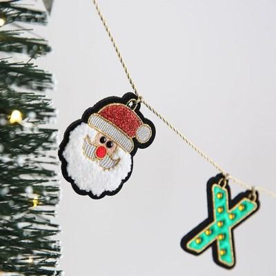 크리스마스 장식 소품 자수 가랜드 - 막스(MARKS)