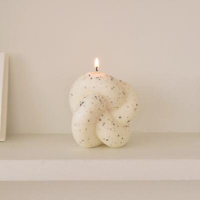 Tube Knot Candle No.2 - dark gray dot