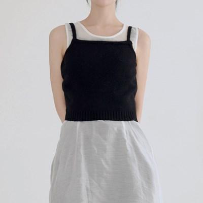 wrap knit vest (3colors)_(1389964)