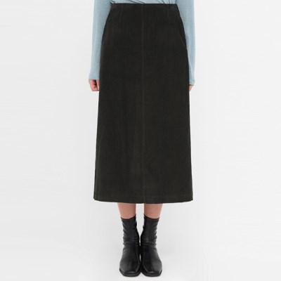 corduroy zipper a line skirt (s, m)_(1390386)