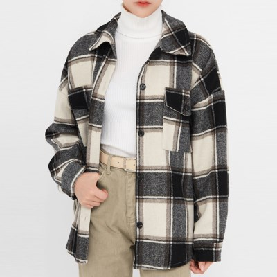 mas check wool overfit shirts_(1389687)