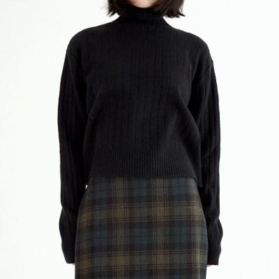 brunch crop pola knit (6colors)_(1390520)
