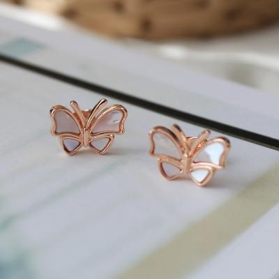 자개 나비 귀걸이