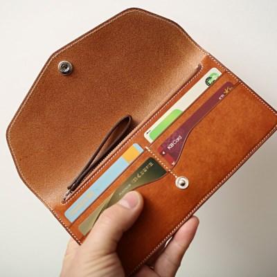 가죽 슬림 장지갑 slim long wallet (FLAT&ZIP)