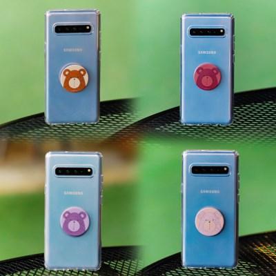 갤럭시노트10플러스 (N975) Bien-BearTok 그립톡 투명 케이스