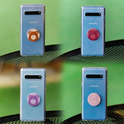 갤럭시노트10 (N970) Bien-BearTok 그립톡 투명 젤리 케이스