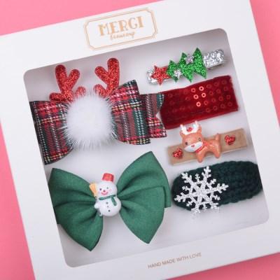 그린해피 크리스마스 헤어핀 선물세트(6P)