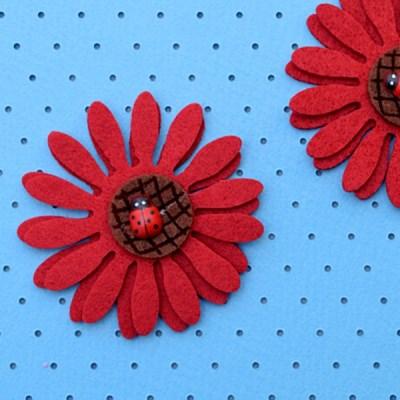 (몽스쿨)DS0058 빨강 꽃 펠트 2P_(1625488)