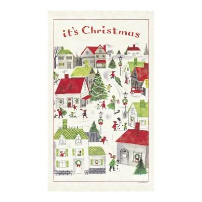 카발리니 패브릭 포스터 - 크리스마스 빌리지