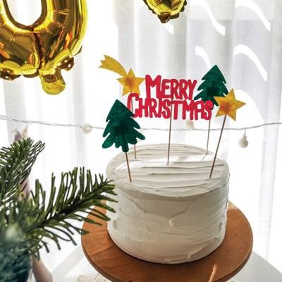 크리스마스 케이크 토퍼