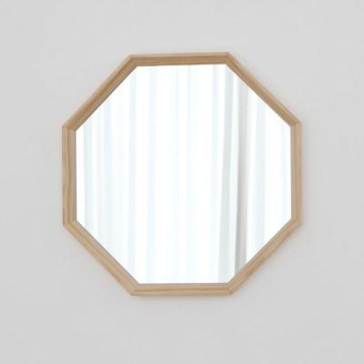 정팔각 사선 원목 벽거울