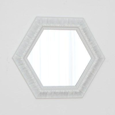 육각 582화이트 벽거울