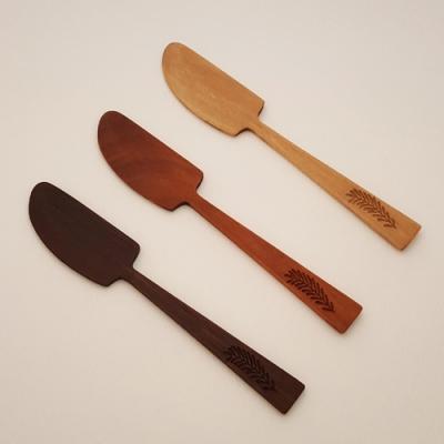나모 버터 & 잼 나이프, 수제 원목 나이프, 나무 질감