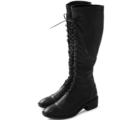 kami et muse Lace up elastic long boots_KM19w161