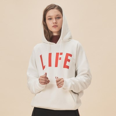LIFE LETTER HOODIE_WHITE_(1483107)