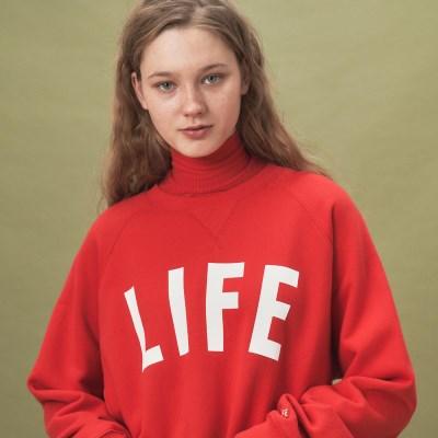 LIFE LETTER SWEATSHIRT_RED_(1483100)