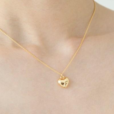 plump heart necklace (2colors)