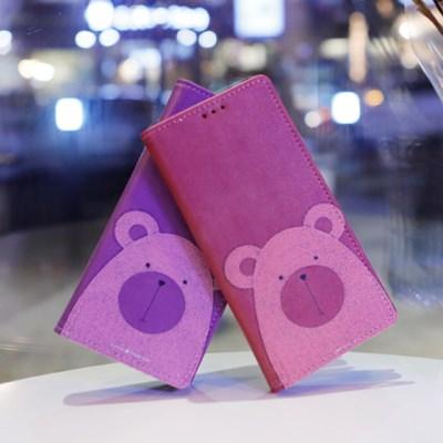 갤럭시A7 2018 (A750) Ventosa-Bear 지갑 다이어리 케이스