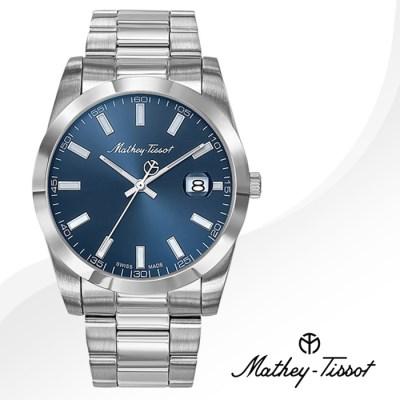 MATHEY-TISSOT 메티티솟 H450ABU 남성시계 메탈밴드 손목시계