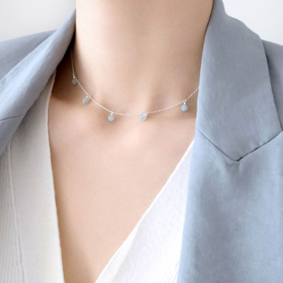 (92.5 silver) soft shine necklace