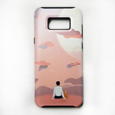 [유광] 동주와 고양이 몽글몽글 달 구경 하드 휴대폰 케이스