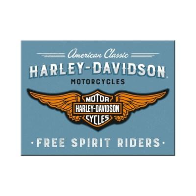 노스텔직아트[14375] Harley-Davidson - Logo Blue