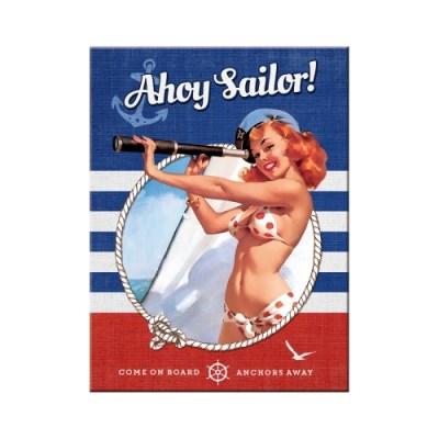노스텔직아트[14337] Pin Up - Ahoy Sailor