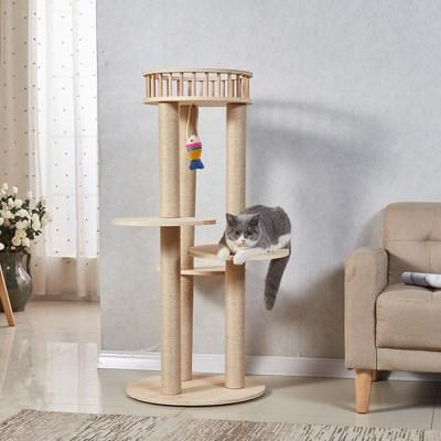 캣타워 고양이집 하우스 캣트리 DIY 원목 3-4단_(2442679)